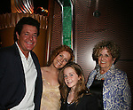Michael O'Leary and his mom Shiela with Liz Keifer & daughter Bella - Guiding Light Actors dress up for the Captain's Dinner aboard Carnival's Glory - Day 2 - August 1, 2010 - So Long Springfield at Sea - (Photos by Sue Coflin/Max Photos)