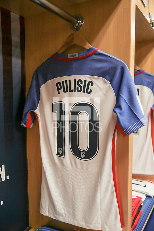 Harrison, N.J. - Friday September 01, 2017: Christian Pulisic during a 2017 FIFA World Cup Qualifying (WCQ) round match between the men's national teams of the United States (USA) and Costa Rica (CRC) at Red Bull Arena.