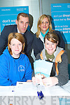 MAKING A CAREER OF IT: Having a look at what the Bank of Ireland have to offer studetns during the IT Tralee Careers Fair on Tuesday morning from front l-r were: Majella Ford and Soyna Doran. Back l-r were: Sean OSullivan (BOI) and Niamh Dempsey (Student Officer BOI).