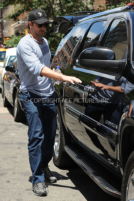 WWW.ACEPIXS.COM . . . . . ....July 2 2010, New York City....Actor Bradley Cooper leaving his downtown hotel on July 2 2010 in New York City....Please byline: KRISTIN CALLAHAN - ACEPIXS.COM.. . . . . . ..Ace Pictures, Inc:  ..(212) 243-8787 or (646) 679 0430..e-mail: picturedesk@acepixs.com..web: http://www.acepixs.com
