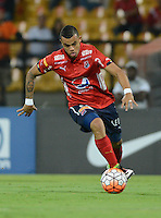 MEDELLIN-COLOMBIA, 24-08-2016. Leonardo Castro jugador del Deportivo Independiente Medellin de Colombiaen acción durante el encuentro con Sportivo Luqueño del Paraguay por la segunda fase-ida de La Copa Sudamericana  disputado en el estadio Atanasio Girardot./ Leonardo Castro player of Independiente Medellin in action during match against Sportivo Luqueno of Paraguay  for Sudamericana Cup 2016 played at Atanasio Girardot stadium . Photo:VizzorImage / León Monsalve / Contribuidor