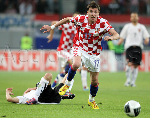 19/05/2010 International friendly match between Austria and Croatia. Croatia defeated Austria 1-0. Picture shows Mario Mandzukic CRO.