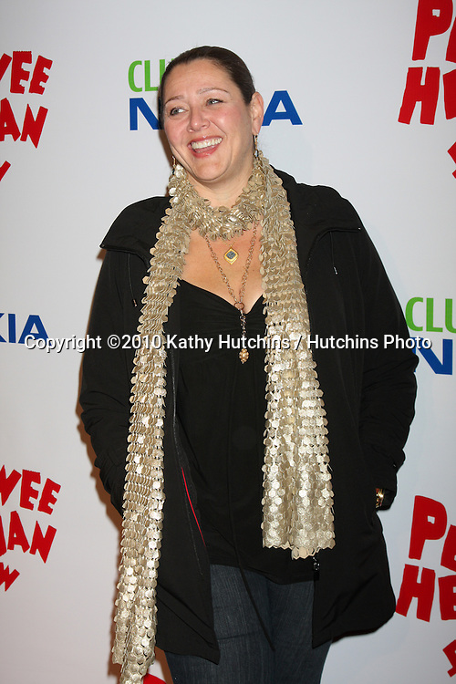 "Camryn Manheim.arriving at the ""The Pee Wee Herman Show"" Opening Night..Club Nokia.Los Angeles, CA.January 20, 2010.©2010 Kathy Hutchins / Hutchins Photo...."