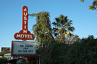 The Austin Motel, located on South Congress Avenue in Austin, Texas is a favorite hangout during March's South by Southwest. Simple rooms are decorated in retro chic. The famed Continental Club is a mere stumble across the street.