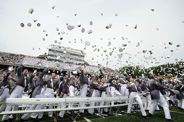 The 2010 graduating class of the United States Military Academy at West Point during graduation and commissioning ceremonies in West Point, New York. May 22, 2010.Credit: Dennis Van Tine/MediaPunch