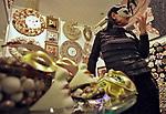 Fri., Dec. 10, 2010, Russia, Moscow. XII Christmas fair opening at the Central House of Artists.<br />  Kommersant Photo/Alexander Weinstein <br /> #RU 10.12.2010, Россия, Москва. Церемония открытия XII Рождественской ярмарки подарков в ЦДХ. Фото: Александр Вайнштейн/Коммерсантъ