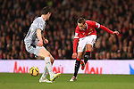 Adnan Januzaj of Manchester United puts in a low cross - Manchester United vs. Burnley - Barclay's Premier League - Old Trafford - Manchester - 11/02/2015 Pic Philip Oldham/Sportimage