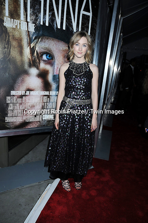 "actress Saoirse Ronan in Chanel dressattending The New York Special Screening of ""Hanna"" starring Saoirse Ronan and Eric Bana on April 6, 2011 at The Regal Union square Stadium 14 in New York City."