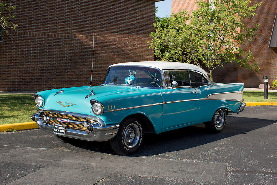 1957 Cruiser Class (#116) – 1957 Chevrolet Bel Air 2-Door Hardtop registered to Tom Brosher is pictured during 4th State Representative Chevy Show on Thursday, June 30, 2016, in Fort Wayne, Indiana. (Photo by James Brosher)