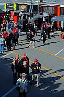 Sprint Cup garage area..(Note:Image was taken using a tilt/shift lens)