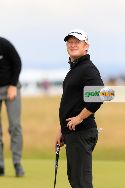 Jamie DONALDSON (WAL) on the 14th green during Monday's Final Round of the 144th Open Championship, St Andrews Old Course, St Andrews, Fife, Scotland. 20/07/2015.<br /> Picture Eoin Clarke, www.golffile.ie