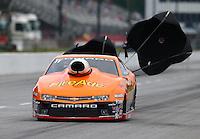 May 19, 2014; Commerce, GA, USA; NHRA pro stock driver Shane Gray during the Southern Nationals at Atlanta Dragway. Mandatory Credit: Mark J. Rebilas-USA TODAY Sports