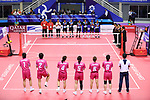 japan women team group (JPN), <br /> AUGUST 28, 2018 - Sepak Takraw : <br /> Women's Quadrant match <br /> at Jakabaring Sport Center Ranau Hall <br /> during the 2018 Jakarta Palembang Asian Games <br /> in Palembang, Indonesia. <br /> (Photo by Yohei Osada/AFLO SPORT)