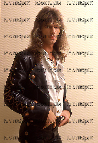 VICTORY - guitarist Herman Frank - Photosession in Hamburg Germany - 1990.  Photo credit: George Chin/IconicPix