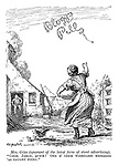 """Mrs. Giles (ignorant of the latest stunt advertising). """"Coom. Jarge, quick! One o' them woireless messages 'as caught foire.!."""