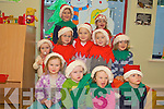 Preparing for their Christmas play in the Danu Childcare Centre on Thursday were Leigh Jones, Joshua Fleming, Sarah O'Neill, Tara Jones, Laura O'Leary, Ciara O'Keeffe, Caoimhe Dineen, Amy Hickey, Anthony King, Ciarrai Jones and Lucy Mannion...   Copyright Kerry's Eye 2008