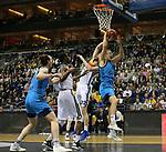 19.03.2019, Mercedes Benz Arena, Berlin, GER, EuroLeague/EuroCup, ALBA ERLIN vs.  MoraBanc Andorra, <br /> im Bild Luke Sikma (ALBA Berlin #43), JDennis Clifford (ALBA Berlin #33), John Shurna (Andorra #22)<br /> <br />      <br /> Foto © nordphoto / Engler