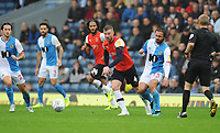 Luton Town's Ryan Tunnicliffe under pressure from Blackburn Rovers' Bradley Dack<br /> <br /> Photographer Kevin Barnes/CameraSport<br /> <br /> The EFL Sky Bet Championship - Blackburn Rovers v Luton Town - Saturday 28th September 2019 - Ewood Park - Blackburn<br /> <br /> World Copyright © 2019 CameraSport. All rights reserved. 43 Linden Ave. Countesthorpe. Leicester. England. LE8 5PG - Tel: +44 (0) 116 277 4147 - admin@camerasport.com - www.camerasport.com