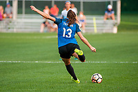 Kansas City, MO - Thursday August 10, 2017: Brittany Taylor during a regular season National Women's Soccer League (NWSL) match between FC Kansas City and the North Carolina Courage at Children's Mercy Victory Field.