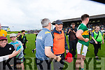 Kerry Manager Peter Keane with Dr Michael Finnerty (Medical) after the Football All-Ireland Senior Championship Quarter-Final Group 2 Phase 3 match between Kerry and Meath at Páirc Tailteann, Navan on Saturday.