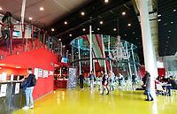 Nederland Utrecht - 2018.  Utrecht Science Park ( De Uithof). Restaurant van het Hijmans van den Berghgebouw. Studie Geneeskunde. Het gebouw is een ontwerp van Erick van Egeraat.    Foto Berlinda van Dam / Hollandse Hoogte