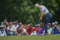 Jordan Spieth (USA) watches his long eagle attempt on 1 during round 1 of the AT&amp;T Byron Nelson, Trinity Forest Golf Club, at Dallas, Texas, USA. 5/17/2018.<br /> Picture: Golffile | Ken Murray<br /> <br /> <br /> All photo usage must carry mandatory copyright credit (&copy; Golffile | Ken Murray)