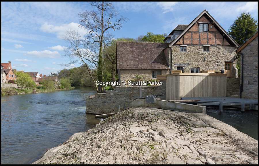 BNPS.co.uk (01202 558833)<br /> Pic: Strutt&Parker/BNPS<br /> <br /> Electrifying property...<br /> <br /> The new owner of this former watermill will never have to worry about the electricity bill - it gets its green energy from a hydroelectric turbine next to it.<br /> <br /> Ludford Mill, on the south bank of the River Teme near Ludlow, Shropshire, is one of just two properties directly linked to the turbine and as well as cheap electricity the picturesque house also comes with fishing rights on the river.<br /> <br /> Owners Angus and Jenny Marshall lovingly restored the property after it was ravaged by a major fire but have now put it on the market with Strutt & Parker with a guide price of £1.1million.