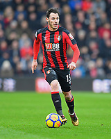 Adam Smith of AFC Bournemouth during AFC Bournemouth vs Arsenal, Premier League Football at the Vitality Stadium on 14th January 2018