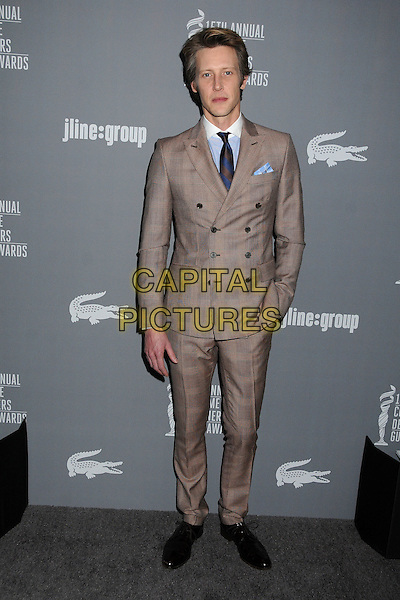 Gabriel Mann.15th Annual Costume Designers Guild Awards held at the Beverly Hilton Hotel, Beverly Hills, California, USA..February 19th, 2013.full length brown beige suit hand in pocket check.CAP/ADM/BP.©Byron Purvis/AdMedia/Capital Pictures.