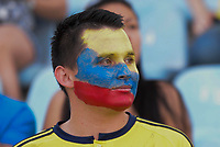 GETAFE - ESPAÑA, 13-06-2017: Un hicha de Colombia (COL) anima a su equipo durante el partido amistoso con Camerún (CMR) como parte de la preparación para la clasificación a la Copa Mundial de la FIFA Rusia 2018 jugado en el estadio Alfonso Perez de la ciudad e Getafe, España. / A fan of Colombia (COL) cheers for their team during friedly match against Camerun (CMR) as part of the preparation to the qualifiers to FIFA World Cup Russia 2018 played at Alfonso Perez stadium in Getafe, Spain. Photo: ACG / VizzorImage / Luis Salgado