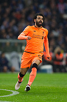 Liverpool's Mohamed Salah <br /> <br /> Photographer Craig Mercer/CameraSport<br /> <br /> UEFA Champions League Round of 16 First Leg - FC Porto v Liverpool - Wednesday 14th February 201 - Estadio do Dragao - Porto<br />  <br /> World Copyright &copy; 2018 CameraSport. All rights reserved. 43 Linden Ave. Countesthorpe. Leicester. England. LE8 5PG - Tel: +44 (0) 116 277 4147 - admin@camerasport.com - www.camerasport.com