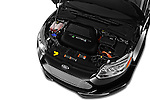 Car Stock 2016 Ford Focus 5-Door-Hatch-Electric 5 Door Hatchback Engine  high angle detail view