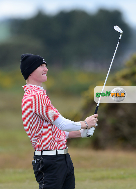 Jordan Niebrugge of USA during the First Round of the 120th Amateur Championship at Carnoustie Golf Links, Carnoustie, Scotland. Picture: Golffile | Richard Martin Roberts<br /> All photo usage must carry mandatory copyright credit (&copy; Golffile | Richard Martin Roberts)