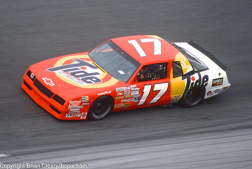 Darrell Waltrip, #11 Rick Hendrick Tide Chevrolet, practice, Daytona 500, Daytona International Speedway, Daytona Beach, Florida, February 15, 1987. (Photo by Brian Cleary/www.bcpix.com)
