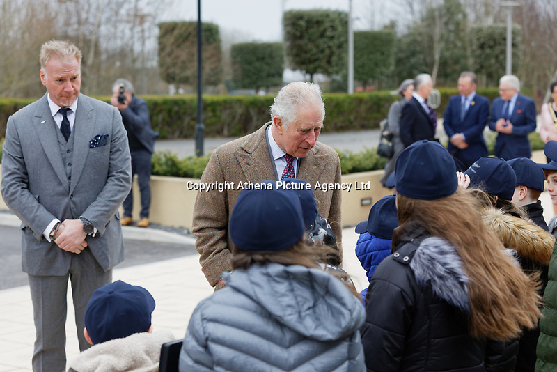Pictured: Friday 21 February 2020<br /> Re: HRH Prince Charles visits the Aston Martin Lagonda factory in St Athan, south Wales, UK.