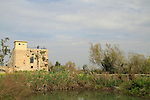 Israel, Coastal Plain, the Crusader fortress anf flour mill in Ein Afek nature reserve