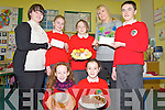 Pupils from 5th and 6th Classes at Derryquay National School who raised 400 with a bring and bake day .organised at the school on Thursday last in aid of two of the schools teachers charity projects..Niamh Brosnan, Kiera Davis, Aimee Byrne, Maire Daly and Rian O'Sullivan with teachers Miss Sine Williams (Belarussian Orphanage Project) .and Louise Quill (Tir na nOg Orphanage, Tanzania).