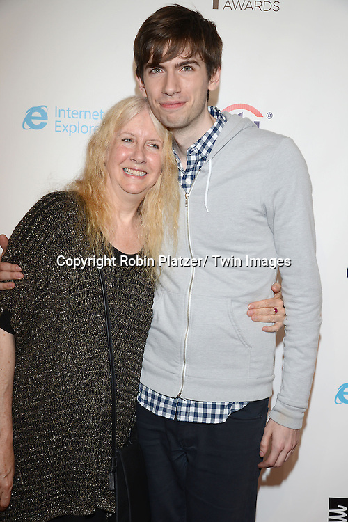 Barbara Ackerman  and son David Karp , CEO of Tumblr, attends the 17th Annual Webby Awards on May 21, 2013 at Cipriani Wall Street in New York City.