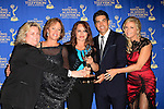 BEVERLY HILLS - JUN 22: Christa Morris, Hillary B Smith, Crystal Chappell, Galen Gering, Katherine Kelly Lang, with the award for the Outstanding New Approaches - Drama Series for 'Venice The Series' at The 41st Annual Daytime Emmy Awards Press Room at The Beverly Hilton Hotel on June 22, 2014 in Beverly Hills, California
