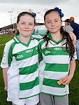Saorise Mullen and Sarah Murphy pictured at St Feckin's sports day. Photo: Colin Bell/pressphotos.ie