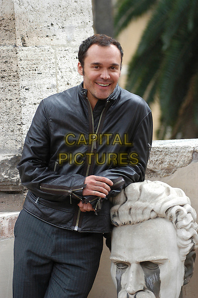 "DAVID LACHAPELLE.Photocall for ""Rize"" at Palazzo Venezia, Rome, Italy..September 25th, 2006.Ref: CAV.half length black leather jacket.www.capitalpictures.com.sales@capitalpictures.com.©Luca Cavallari/Capital Pictures."