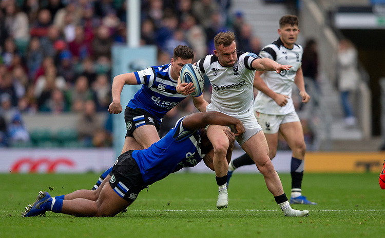 Bristol Bears' Andy Uren in action during todays match<br /> <br /> Photographer Bob Bradford/CameraSport<br /> <br /> Gallagher Premiership - Bath Rugby v Bristol Bears - Saturday 6th April 2019 - The Recreation Ground - Bath<br /> <br /> World Copyright © 2019 CameraSport. All rights reserved. 43 Linden Ave. Countesthorpe. Leicester. England. LE8 5PG - Tel: +44 (0) 116 277 4147 - admin@camerasport.com - www.camerasport.com