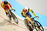 Picture by Simon Wilkinson/SWpix.com - 01/03/2018 Day 2  - UCI 2018 Track Cycling World Championships. Apeldoorn The Netherlands - Olena Starikoa of Ukraine and Robyn Stewart of Spain Women's Sprint 1/16