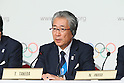Tsunekazu Takeda, <br /> SEPTEMBER 7, 2013 : <br /> A press conference after Tokyo was announced as the winning city bid for the 2020 Summer Olympic Games at the 125th International Olympic Committee (IOC) session in Buenos Aires Argentina, on Saturday September 7, 2013. (Photo by YUTAKA/AFLO SPORT)