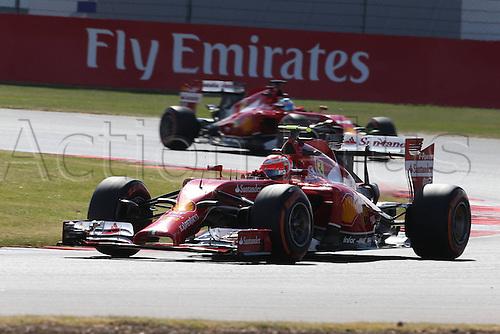 05.07.2014. Silversone, Northants, England. British F1 Grand Prix, Qualifying session.  Kimi Raikkonen, Fernando Alonso, Scuderia Ferrari