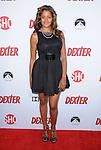 "Claudia Jordan arriving at showtime's ""Dexter Season Eight Premiere Party"" held at MILK Studios in Los Angeles on June 15, 2013"