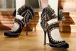 Gloria Blackbuck shoes shown at the Catherine Martin and Muccia Prada Dress Gatsby display at Prada store in SOHO, NYC May 4, 2013.