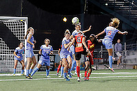 Rochester, NY - Friday July 01, 2016: Arin Gilliland, Alanna Kennedy, Jessica McDonald, Casey Short during a regular season National Women's Soccer League (NWSL) match between the Western New York Flash and the Chicago Red Stars at Rochester Rhinos Stadium.