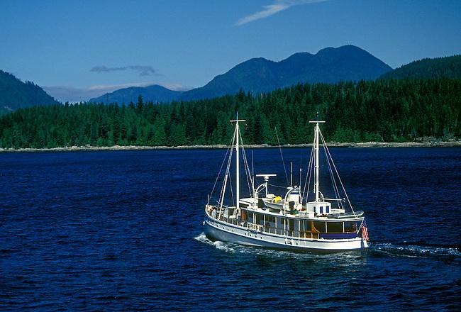 Boat cruise tour near Dent Rapids Inside Passage British Columbia Province Canada North America