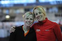 SCHAATSEN: Calgary: Essent ISU World Sprint Speedskating Championships, 26-01-2012, Tonny de Jong-Knoll, Marianne Timmer, ©foto Martin de Jong